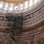 Fragment Retention window films installation at Library of Congress
